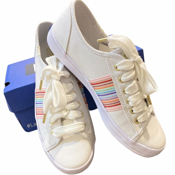 Keds Rainbow Stripe Sneakers SZ 7M